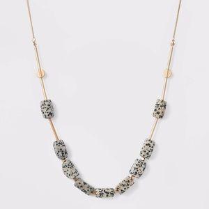 Semi-Precious Gold and Dalmation Jasper necklace